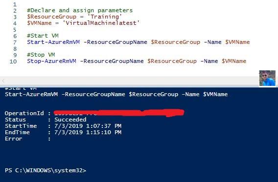 Azure VM Start Stop PowerShell Scripts