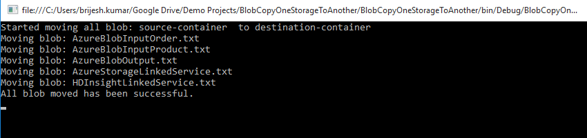 All Blob Move One Storage Account To Another