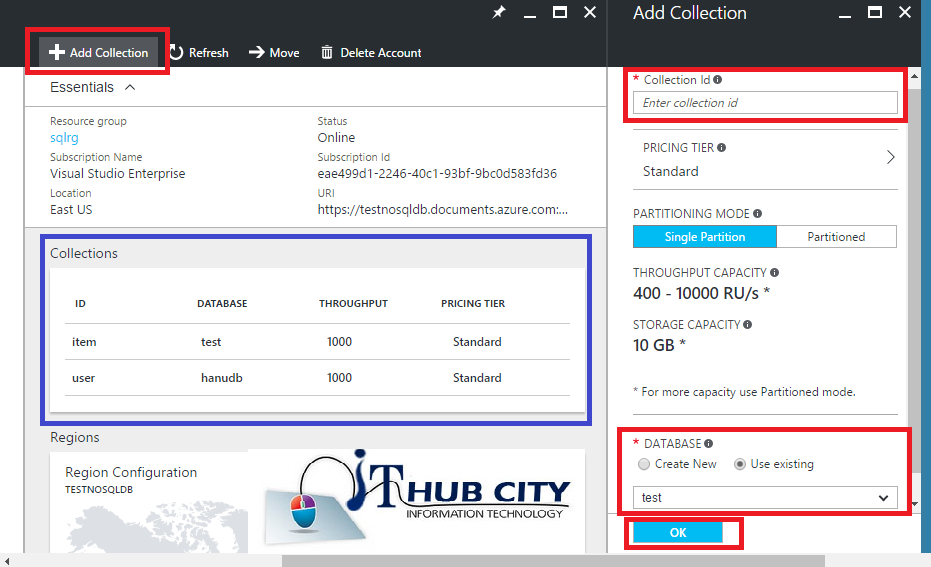Create DocumentDB Using azure Portal