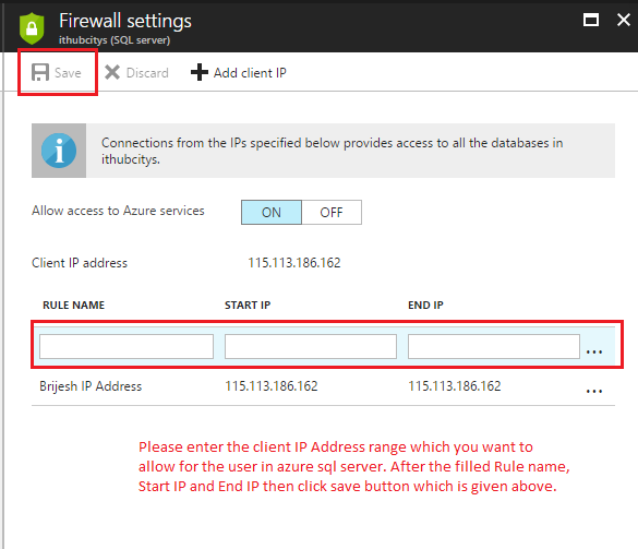 Set Firewall Security In Azure SQL