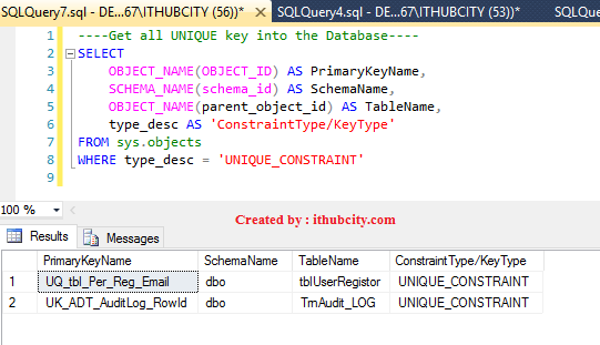 SQL SERVER -Get or Find or Retrieve the list all Primary Key
