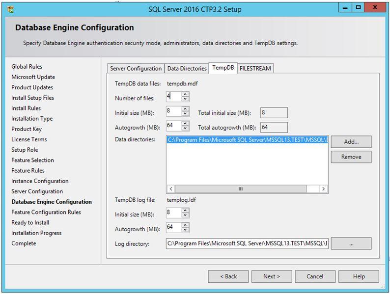 Multiple TempDB Database in SQL-Server 2016