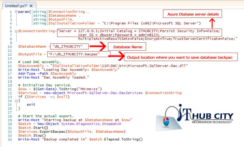 Take Azure Database Backup Into Backpack Using Powershell